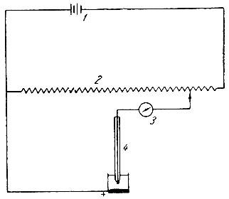 Рис. 7. Схема установки для снятия полярографических кривых