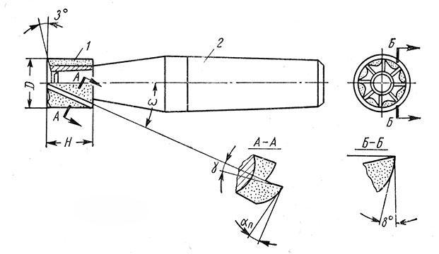 Рис. 82. Концевая фреза с монолитной твердосплавной коронкой